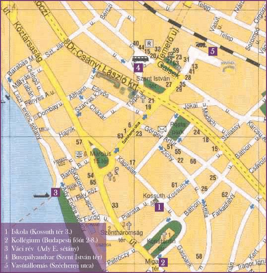 vác térkép Megközelítés, eligazodás a városban | Vác | Pikéthy Konzi  vác térkép